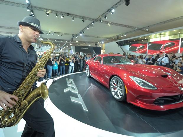 Lançamento do SRT Viper da Chrysler (Foto: Flavio Moraes/G1)