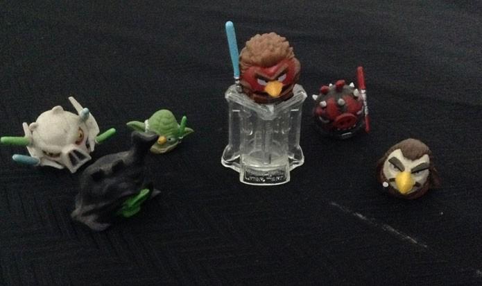 Angry Birds tem bonecos de Star Wars para usar no Telepod (Foto: Felipe Vinha)