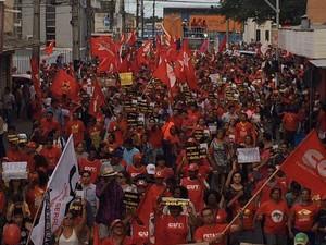 Cerca de 22 mil pessoas participam de manifestação (Foto: Tassio Andrade/G1)