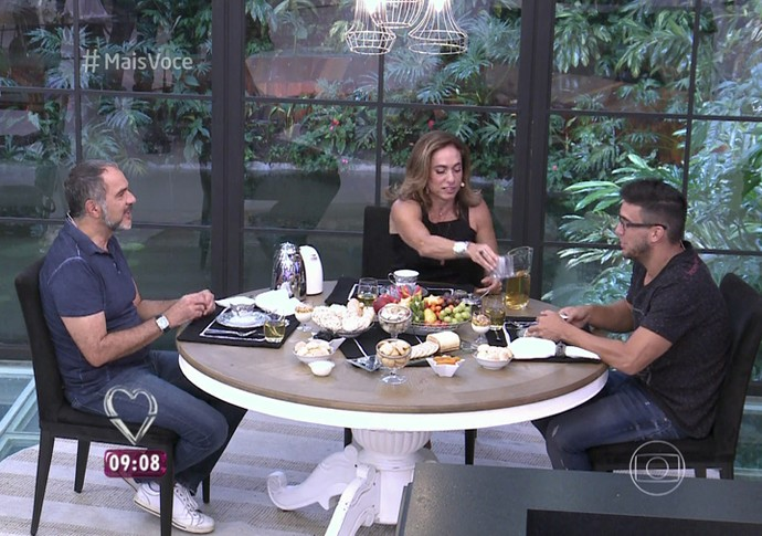 Humberto Martins com André Marques e Cissa Guimarães (Foto: TV Globo)
