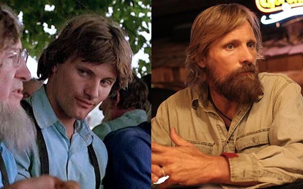 Viggo Mortensen em 'A Testemunha' (1985) e 'Capitão Fantástico' (2016) (Foto: Divulgação)