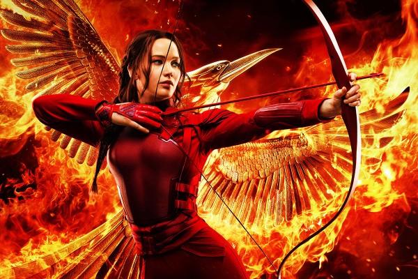 Jennifer Lawrence como Katniss em cartaz de 'Jogos Vorazes: A Esperança - O Final' (Foto: Divulgação)