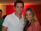 Amaury Nunes posta foto com Danielle Winits: 'Ela e eu'