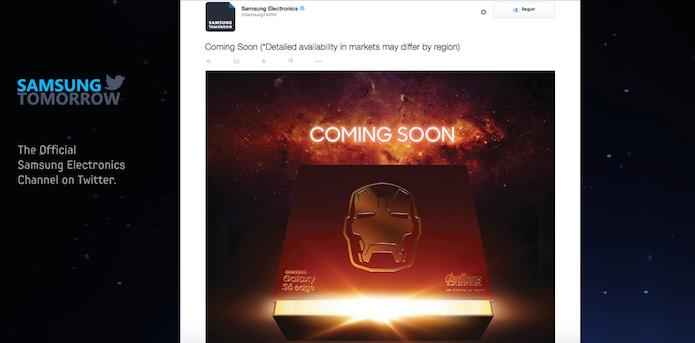 Samsung revela Galaxy S6 Edge Homem de Ferro (Foto: Reprodução/Edivaldo Brito)