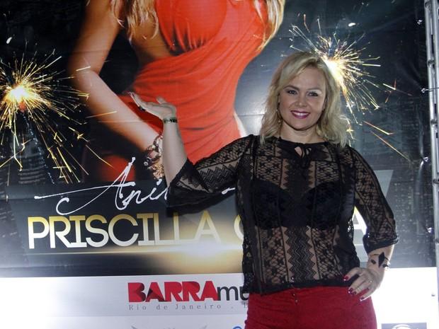 Ex-paquita Ana Paula Almeida em festa no Rio (Foto: Marcos Ferreira/ Brazil News)