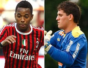 Robinho Milan e Rafael do Santos (Foto: Editoria de arte / Globoesporte.com)