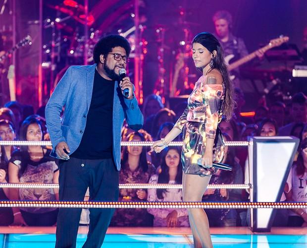 Apresentação Daniel e Carlinhos Brown (Foto: The Voice Brasil / TV Globo)