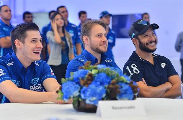 Allam Khodair e Mauricio Fontenete da Blau Motorsport (Foto: Divulgação/Fernanda Freixos)