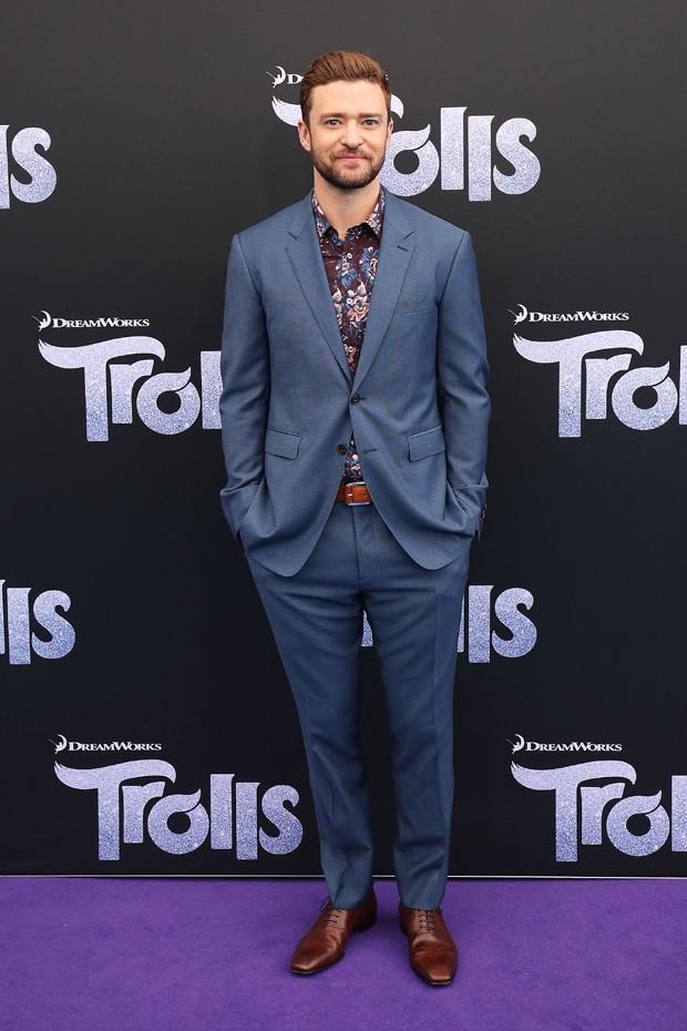 Justin Timberlake na première australiana de Trolls (Foto: Divulgação)