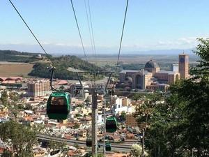 Bondinho é inaugurado nesta sexta em Aparecida. (Foto: Divulgação/ Basílica Nacional de Aparecida)