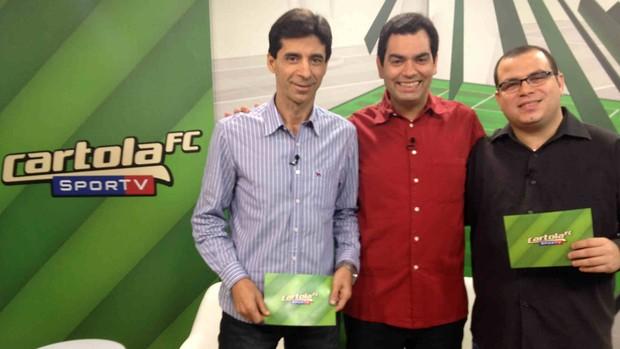 Programa do Cartola 11 Daniel Cardoso Mauro Galvão e Cassius Leitão convidados 2 (Foto: Divulgação SporTV)