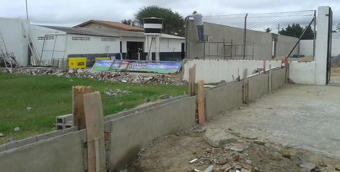 Obras no Estádio Presidente Vargas, do Treze (Foto: Divulgação / Treze)