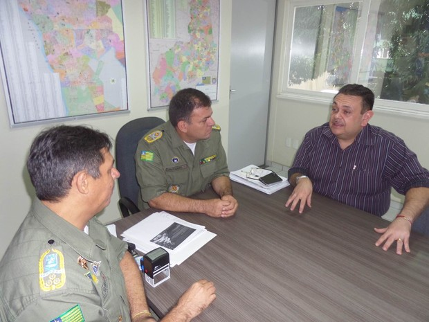 Bancada federal faz nova reunião com o comando da Polícia Militar do Piauí (Foto: Aline Ribeiro)