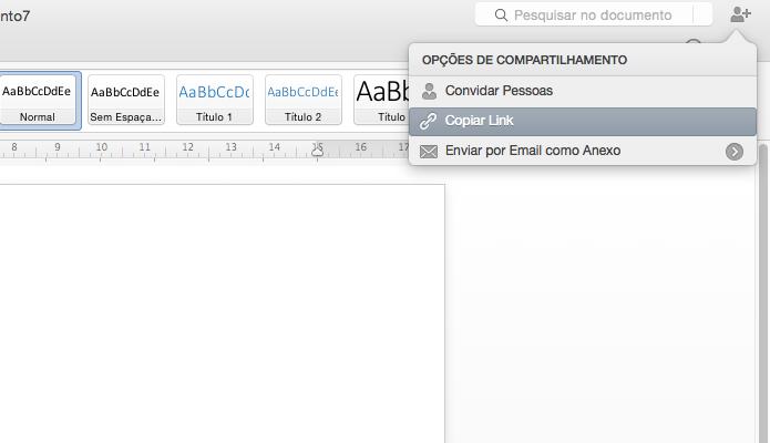 Novo Office permite compartilhar documentos facilmente (Foto: Reprodução/Paulo Alves)