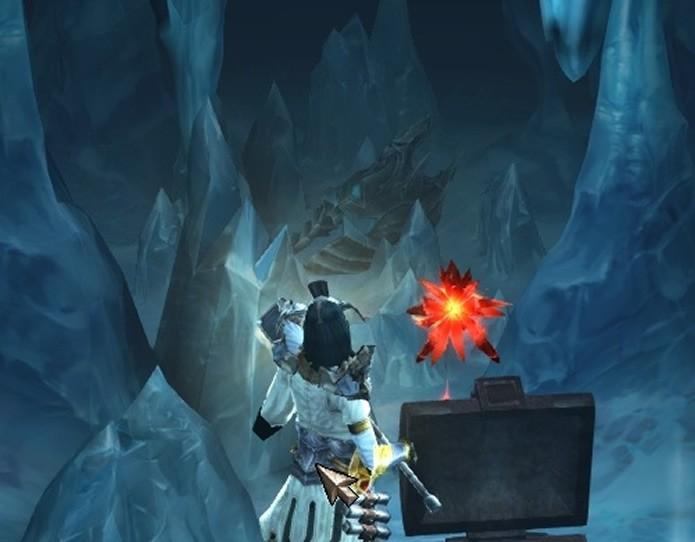 O capacete do sinistro antagonista de Warcraft pode ser encontrado em uma das cavernas de Diablo 3 (Foto: Reprodução/Blizzard)