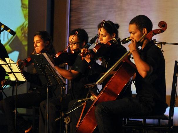 Jovens que participaram do projeto de musicalização da Fundação Bachiana (Foto: Divulgação/ Fundação Bachiana)