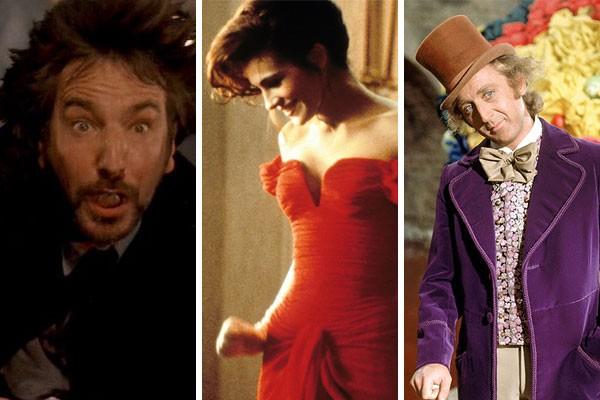 Alan Rickman, Julia Roberts e Gene Wilder fazem parte dessa história de susrpresas que envolvem os bastidores de grandes obras de Hollywood (Foto: Divulgação/Reprodução)