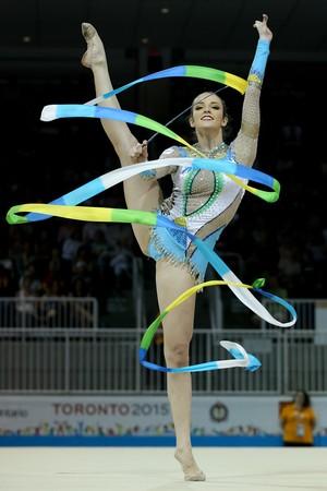 Natalia Gaudio ginástica rítmica fita último dia Jogos Pan Americanos 2015 (Foto: Ricardo Bufolin/ CBG)