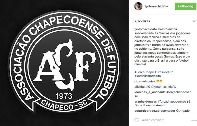 Lyoto Chapecoense (Foto: reprodução/Instagram)