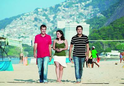 A partir da esquerda, João Ricardo Mendes, Roberta Oliveira e José Eduardo Mendes, do Hotel Urbano (Foto: Leonardo Wen)