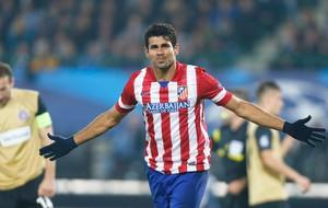 Diego Costa Comemoração Austria Vienna x Atletico Madrid Liga dos Campeões (Foto: Reuters)