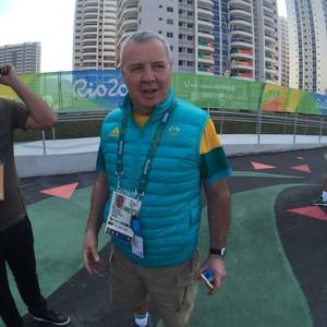 Mike Tancred, chefe de imprensa da delegação australiana (Foto: Richard Souza)