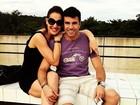 Claudia Raia relembra viagem ao lado do namorado