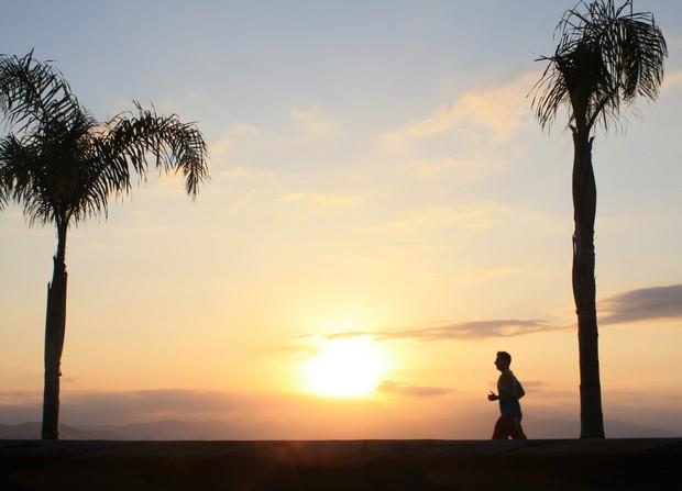 sol da orla de florianópolis (Foto: Carla Gomes)