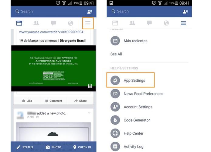 como colocar o aplicativo do facebook para android em português
