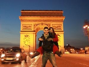 Rafaela Cattai e Bruno Peixoto em viagem a Paris (Foto: Arquivo pessoal/Bruno Peixoto)