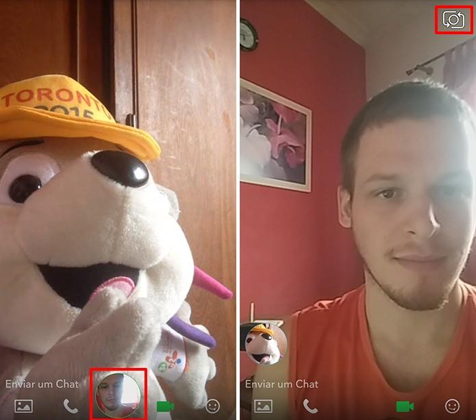 Snapchat pode ter imagem e câmera trocadas facilmente durante chamadas de vídeo (Foto: Rerpodução/Elson de Souza)