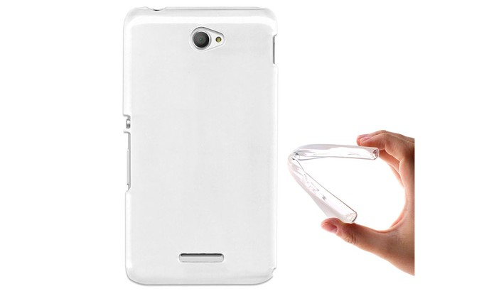 Capa transparente e flexível é uma opção discreta para proteger o Xperia E4 (Foto: Divulgação/BeGel)