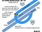 Trânsito sofre alteração na BR-101, entre Natal e Parnamirim