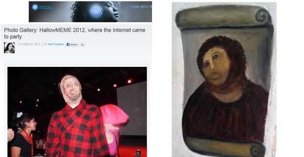 Meme da pior restauração do mundo (Foto: Reprodução)