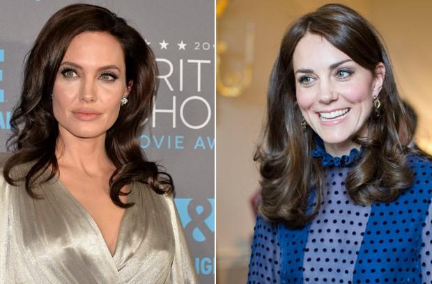Angelina Jolie e Kate Middleton (Foto: AFP)