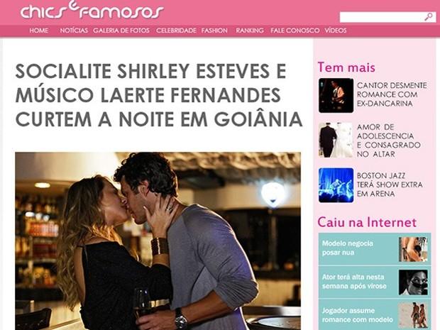 Shirley beija Laerte e é notícia no país (Foto: Em Família / TV Globo)