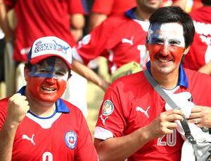 Torcida Espanha e Chile Maracanã (Foto: André Durão)