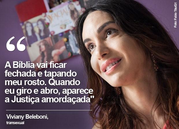 Viviany Beleboni, transexual que vai desfilar na Parada LGBT em São Paulo (Foto: Fabio Tito/G1)