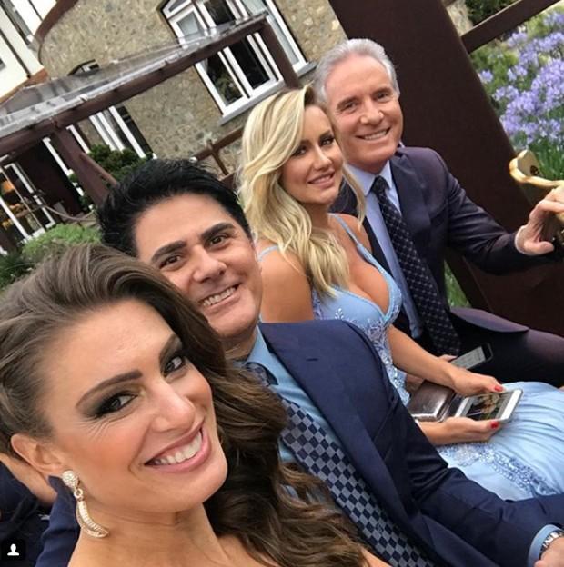 Elaine Mickely, César Filho com Ana Paula Siebert Justus e Roberto Justus (Foto: Reprodução/Instagram)