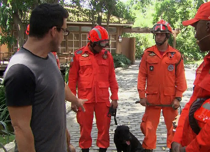 Cães ajudam no resgate de pessoas desaparecidas (Foto: TV Globo)