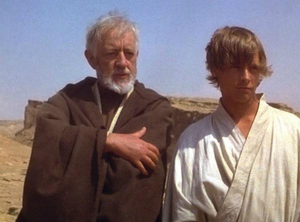 Alec Guinness no papel de Obi Wan Kenobi em 'Star Wars: Uma Nova Esperança' (1977) (Foto: Reprodução)