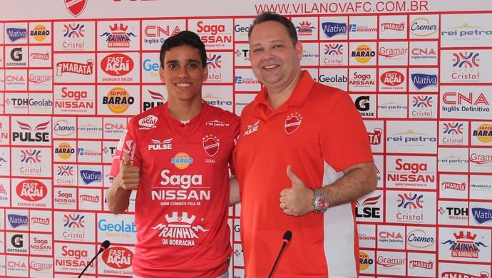 Wendell Lira - atacante do Vila Nova (Foto: Fernando Vasconcelos / GloboEsporte.com)
