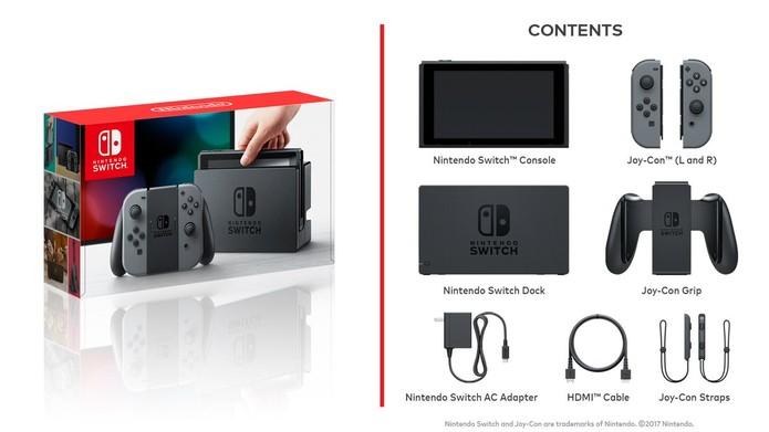 O que vem na caixa do Nintendo Switch (Foto: Divulgação/Nintendo) (Foto: O que vem na caixa do Nintendo Switch (Foto: Divulgação/Nintendo))