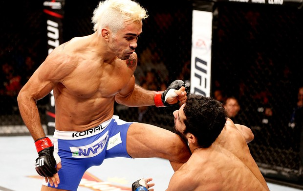 UFC Godofredo Pepey e Noad Lahat. (Foto: Agência Getty Images)