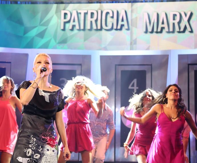 Patrícia Marx relembra sucesso  (Foto: Carol Caminha/Gshow)