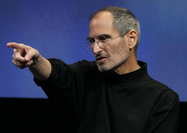Steve Jobs, um mestre em inspirar pessoas nas apresentações (Foto: Getty Images)