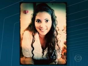 Brasileira Madeline Alice foi hospitalizada (Foto: Reprodução / TV Globo)