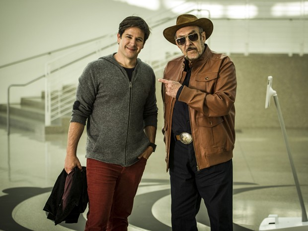 Murilo Benício e Miéle gravam na Califórnia (Foto: João Cotta/TV Globo)