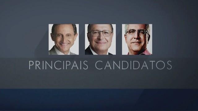 Principais candidatos ao governo do estado de São Paulo (Foto: Reprodução / TV Tribuna)