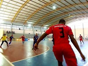 Time de futsal levou a prata nos Jogos Escolares (Foto: Marcus Mesquita/Seduc-TO)